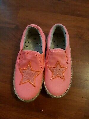 Girls Slip On Canvas Pumps Plimsolls Toddlers Beach Summer Shoes  Size 6