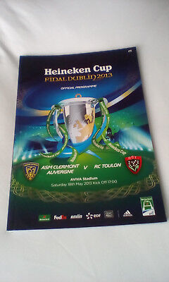 European Rugby Football Cup Final 2013 Ireland Programme Clermont Toulon France