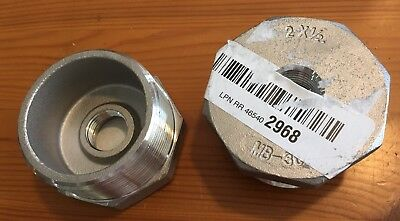 "Stainless Steel 304 Cast Pipe Fittings, Hex Bushing, Class 150, 2"" M x 1/2"" F"