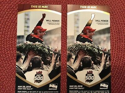 2 Tickets to the 2019 Indianapolis 500/ Paddock / GREAT SEATS!