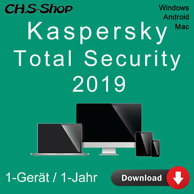Kaspersky Total Security 2019 *1-Gerät / 1-Jahr* DE Vollversion  / KEY