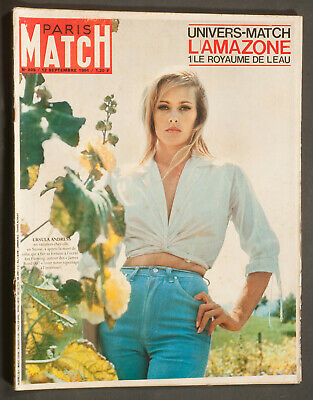 'paris-Match' French Vintage Magazine Ursula Andress Cover 12 September 1964