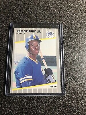 22e6685c3a 1989 FLEER GLOSSY Ken Griffey JR. RC Mariners #548 - Rare - $34.00 ...