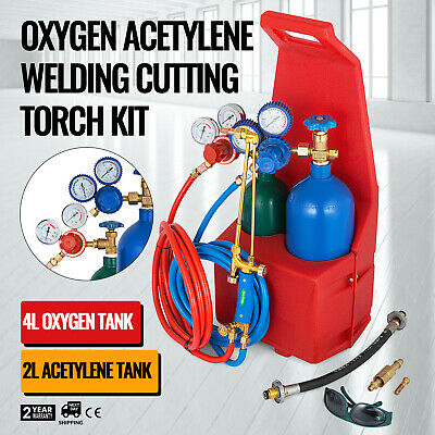Oxygen Propane Welding Cutting Torch Kit Tote Pipe Brazing LATEST TECHNOLOGY
