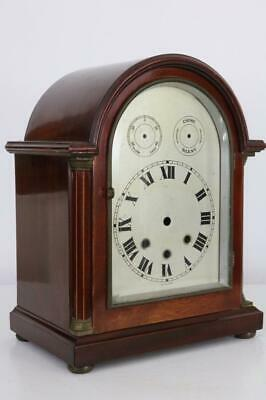 ANTIQUE GERMAN CHIMING BRACKET or MANTEL CLOCK CASE maybe Junghans RED MAHOGANY