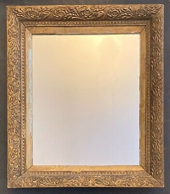 Antique Vintage Ornate Gold Gilt Gilded Wooden Frame with Mirror