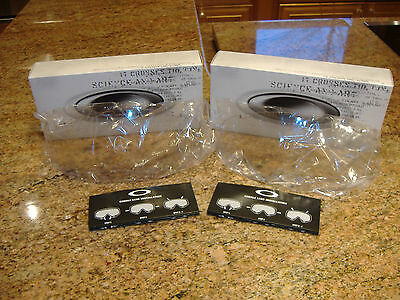 2 Oakley Array SI Ballistic Goggles Replacement Lens Clear Military Surplus New