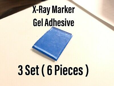 X-Ray Marker Adhesive Gel Strips Reusable 3 SET (6 Pieces) Xray Radiology xray