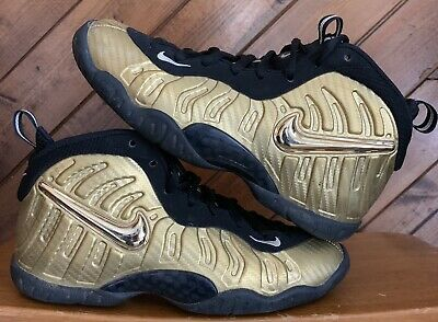 7e70a718e1b Nike Air Foamposite Pro Little Posite Metallic Gold Black Sz 4.5Y 644792-701