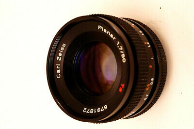 Carl Zeiss Planar 50mm T* f1.7 Lens Contax/Yashica Excellent Near Mint in Box