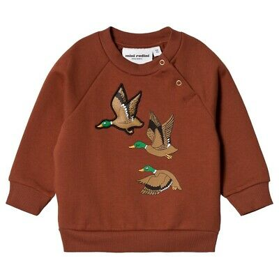Mini Rodini Baby Duck Sweetshirt Brown 0-6 Months Small