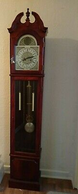 VINTAGE Tempus Fugit KEY WIND Grandfather Clock 31 DAY
