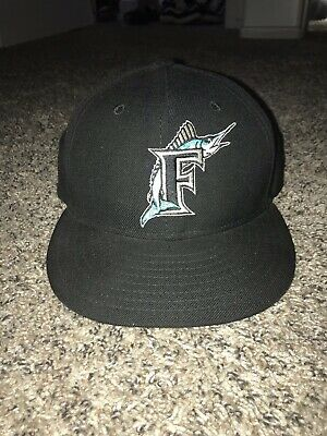 b0aab504f Men s New Era Miami Marlins On-Field 59FIFTY Fitted Hat Cap AC Retro  Cooperstown