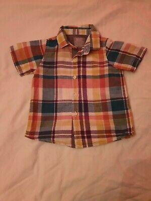 Baby boy clothes 12-18 months 1 x smart SS checked shirt NEXT Ex Cond