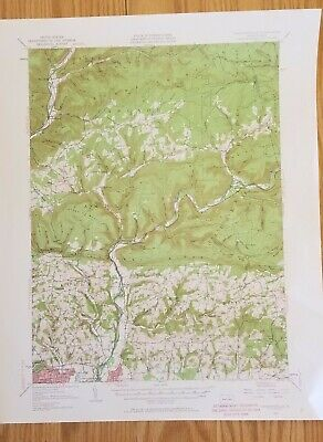 1953 Warrensville PA Quadrangle USGS Topographic Map