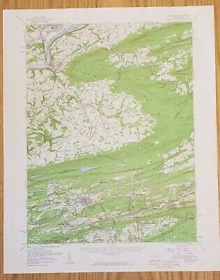 1955 Catwissa PA Quadrangle USGS Topographic Map