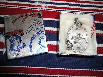 USA Paul Revere Bicentennial (1776 - 1976) Pewter Necklace