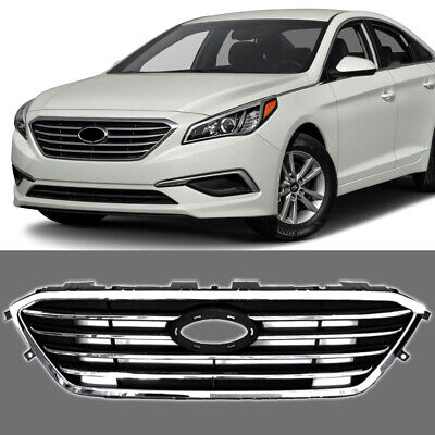 Fits For 2017 2016 Hyundai Sonata Front Grill Factory Style Chrome Grille