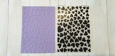 Embossing Folder   -  Small Hearts