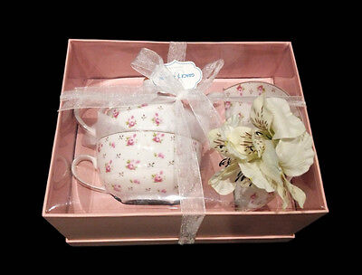 Gracie Teaware Porcelain Fine Bone China Pink Roses 3Pc Tea Pot-New, In Gift Box