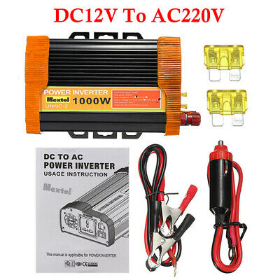 2000Watt 12v Dc To 110v/220v Ac Pure Sine Wave Inverter Auto/Car/home Solar