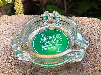 Collectible Bradley's 5 and 10 Advertising Glass Ashtray San Diego California