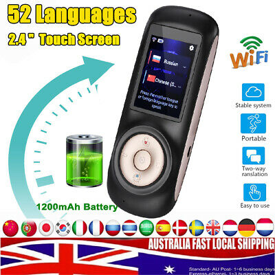 Portable 52 Languages Smart Translator Instant Voice Translation  Travel WiFi AU