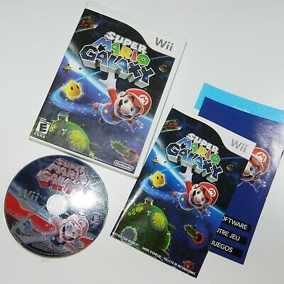 Super Mario Galaxy (Nintendo Wii, 2007) Pre-owned complete light scratches disc