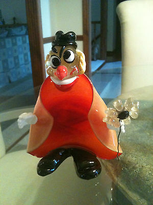Vintage Murano Art Glass Clown Ashtray / Utility Dish By A. Seguso