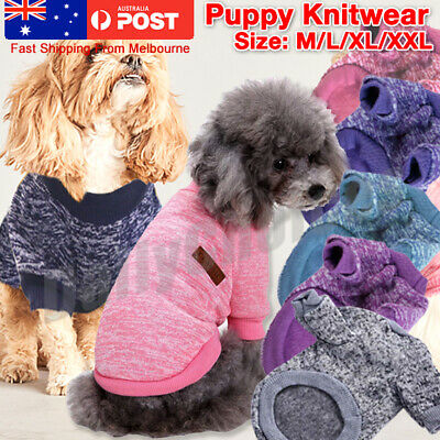 Coat Puppy Warm Cute Pet Clothes Knitwear Knitted Dog Sweater Jumper Winter Cats