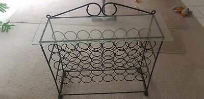 Wine storage rack 40 bottles solid
