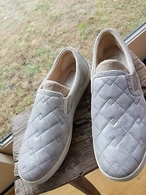 3ba6577e784 $110 NIB UGG Womens Fierce Deco Quilt Leather Slip On Sneakers Shoes ...