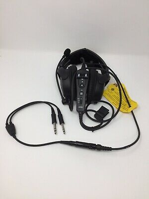 Bose A20 Aviation Headset 6-PIN and Dual General Aviation Plugs (Non Bluetooth)