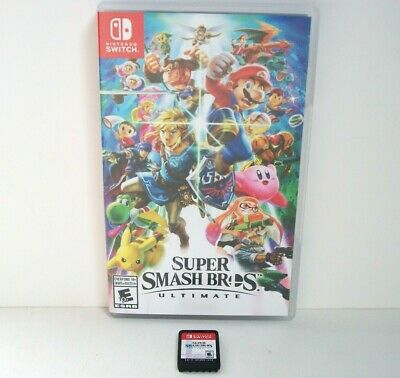 Super Smash Bros Ultimate (Nintendo Switch) Game & Case Mario Fighting ~Combine~