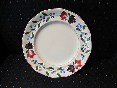 Adams Dinner Plate 10 inch, Old Colonial, Handpainted, Old Backstamp