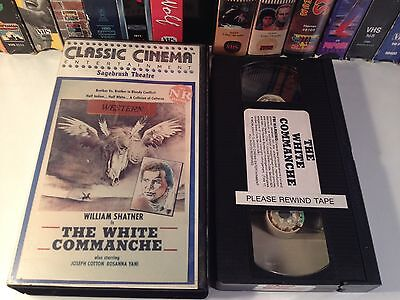 The White Commanche Rare Western Action VHS 1968 OOP HTF William Shatner Cotten