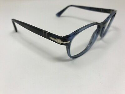 a96d8567117f2 PERSOL EYEGLASSES FRAME 3085-V 1020 53-19 145 striped gray eye ...
