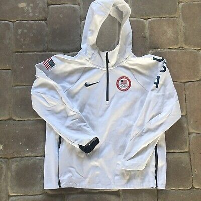 da7b4094e MEN'S NIKE TECH Fleece Team USA Olympic White Windrunner Hooded Zip Jacket