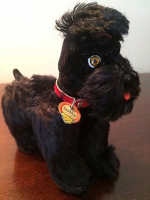 "Vintage Steiff Jointed Poodle Snobby Dog 5"" w/Button, Ear Tag Chest Tag 1953-72"