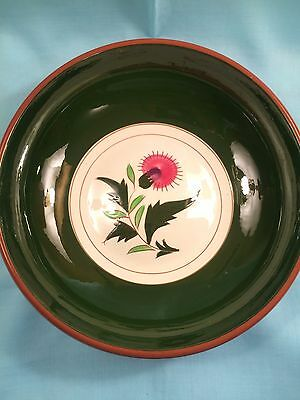 """Mid Century Stangl China Pottery Thistle Pattern Large Round Serving Bowl 9.5"""""""