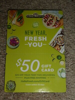 HelloFresh $50 Gift Card = $25 Off First 2 Deliveries + Free Shipping