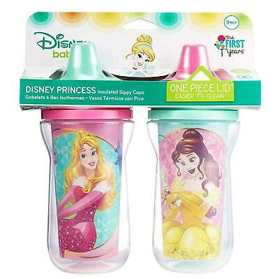 Disney Princess 2 Pack Sippy Cups Spill Proof Toddler & Baby NEW