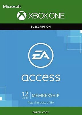 EA ACCESS - 1 Year / 12 Month Subscription CODE for XBOX ONE