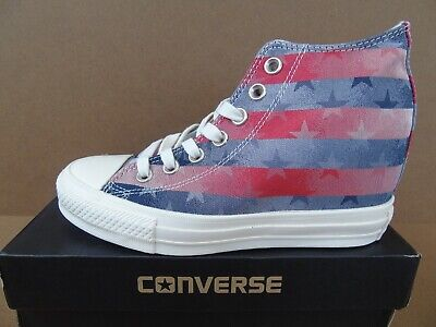 Converse Women's Chuck Taylor All Star Lux Mid Trainers Red/White/Blue
