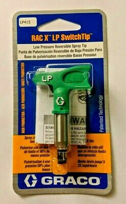 Graco RAC X LP 415 Low Pressure Paint Spray Tip, Green Size 415, NEW