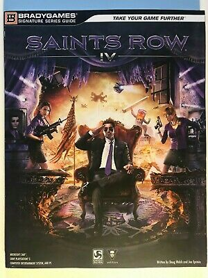 Saints Row IV Official Strategy Game Brady Games Signature Series Guide 4