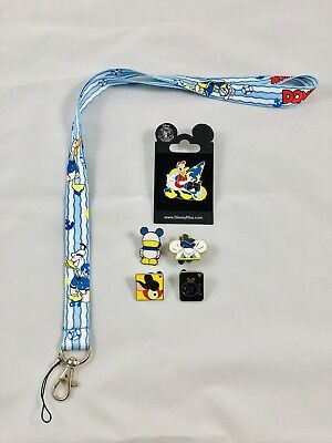 disney lanyard starter pin set/lot donald duck