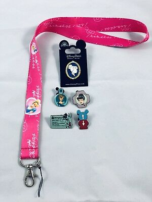 disney lanyard starter pin set/lot Cinderella
