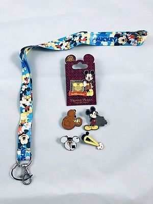disney lanyard starter pin set/lot mickey mouse