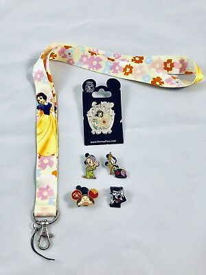 disney lanyard starter pin set/lot snow white